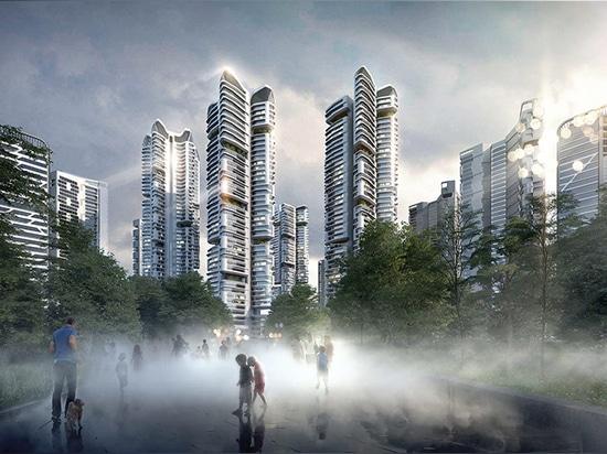 UNStudio a vasto progetto abitativo di eunma di 32 torri del piano generale a Seoul