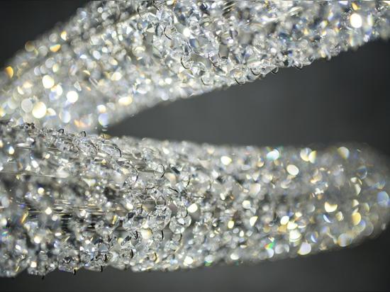 Candeliere a cristallo di infinito