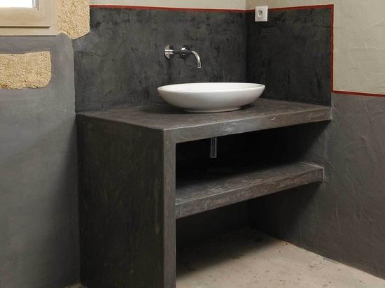 i lavandini del Micro-cemento completano