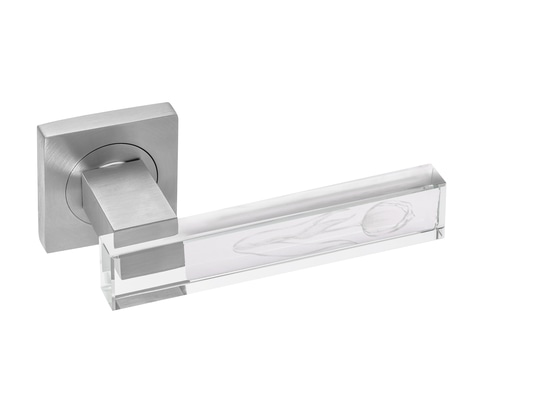 Tulipano olandese inciso in Crystal Door Handle