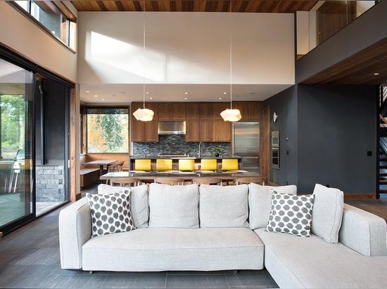 Area comoda di vita e della cucina