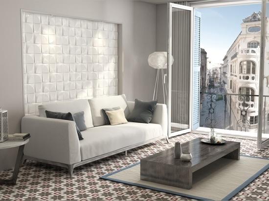 3 mattonelle dimensionali della parete