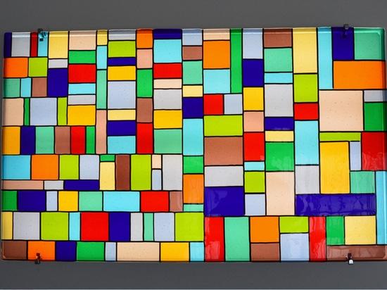 GIARDINI – Pannello decorativo da parete in vetro