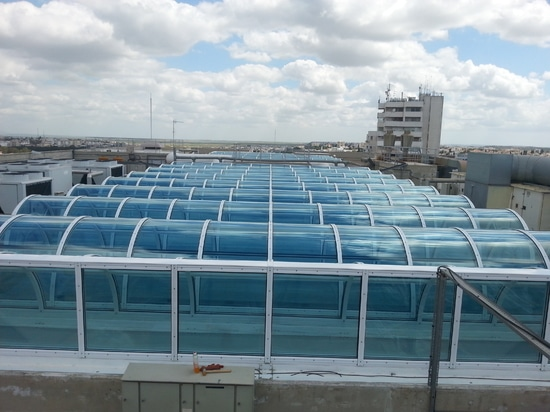 Pannello solido piano del policarbonato della brezza di PALSUN - HQ della Banca del Cipro
