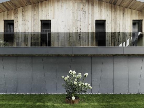 facciata fatta di fibra di vetro concreta nella progettazione d'annata