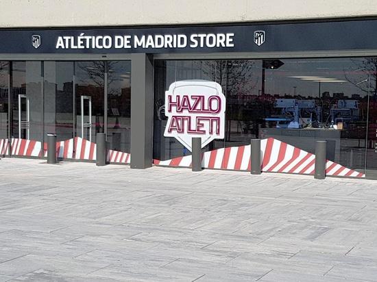 La sicurezza ha rinforzato le bitte per il deposito di Atletico Madrid