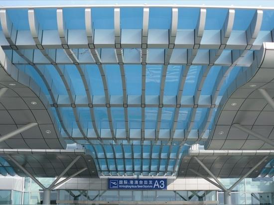 Sistema architettonico del pannello del policarbonato solido di SUNGLAZE™