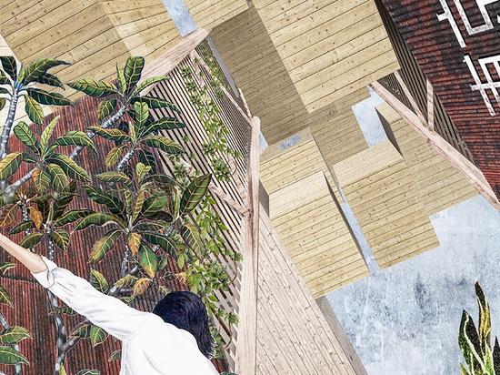 la città sopra la città: muça + safaryan ecologicamente espandere la torre della capsula a Tokyo