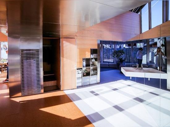 va hasegawa progetta lo spazio vitale prototipo per gli impiegati di MUJI