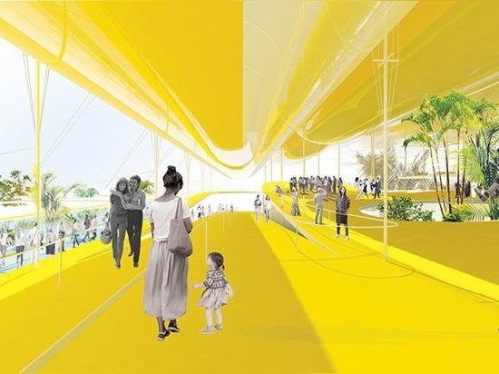 Expo 2020: il selgascano + FRPO propongono il baldacchino dei cilindri gonfiabili per il padiglione spagnolo