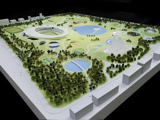 i lavori di costruzione cominciano sulla città universitaria degli sport degli architetti PAZZI in quzhou, porcellana