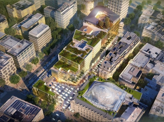"""callebaut di Vincent per trasformare monumento storico a Lussemburgo con scultorea """"la cupola solare"""""""