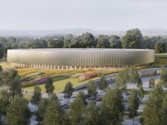 il complesso incavato di sport dei metaform + di mecanoo a Lussemburgo includerà il velodromo del legname
