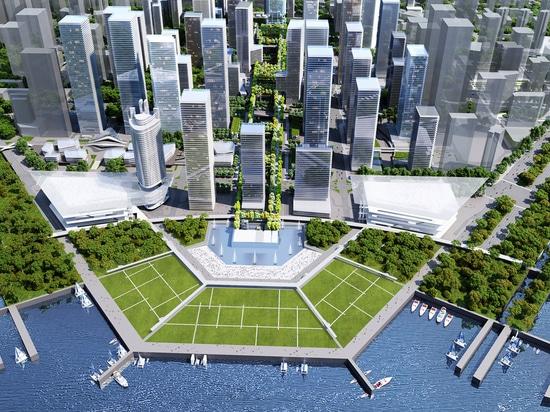 Rogers Stirk Harbour + i partner progetta il giardino alzato lungo metro 1.200 a Shenzhen