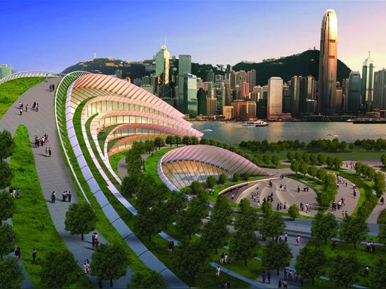 STAZIONE AD OVEST DI KOWLOON SULLA PISTA DA TRASFORMARSI IN IN NUOVO PUNTO DI RIFERIMENTO DI HONG KONG