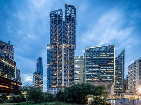 """UNStudio completa entrambe le """"V su shenton"""" e """"sulla torre degli scotts"""" a Singapore"""
