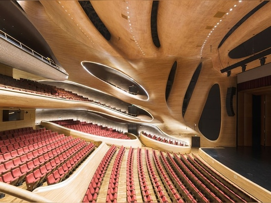 teatro dell'opera di Harbin degli architetti PAZZI delle fotografie di gallardo dei andrés nella città del ghiaccio della porcellana