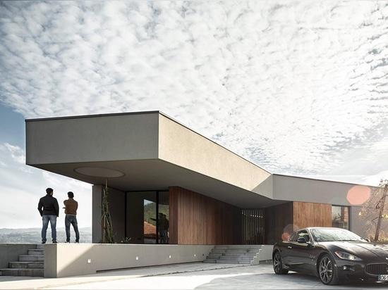 i martins di Paulo costruisce la casa del GR dalle forme irregolari nel Portogallo