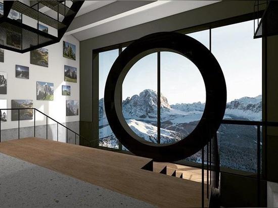 il museo del lume di fotografia della montagna si siede sopra le dolomia