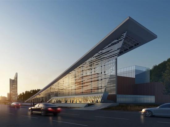 Gli architetti di RMJM libera la visione per il piano generale della riva del fiume in porcellana