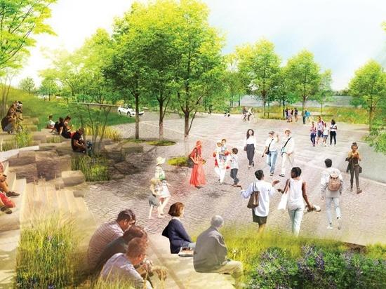 il gruppo dello studio + SCAPE rivelano i piani per riprogettare un parco di lungomare a Memphis, Tennessee