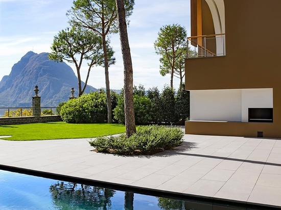 il herzog & de meuron costruisce otto ville sulle banche propense del lago Lugano