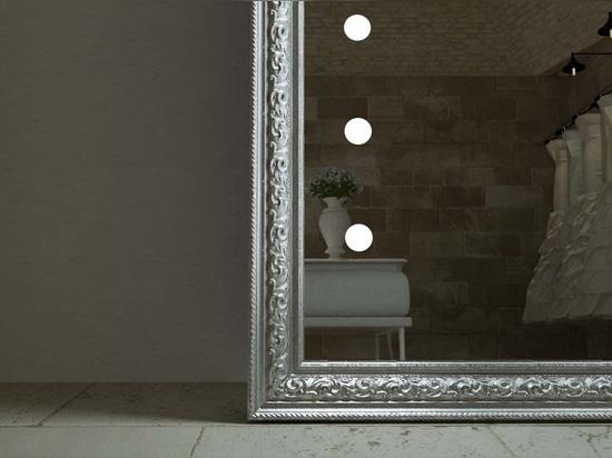 framed lighted mirrors