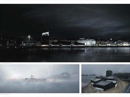 Il museo sarà situato a Helsinki? zona del sud del porto di s. Legga più: Moreau Kusunoki Architectes? ? Arte nella città? concorrenza Guggenheim Helsinki di disegno di Guggenheim Helsinki di vitto...