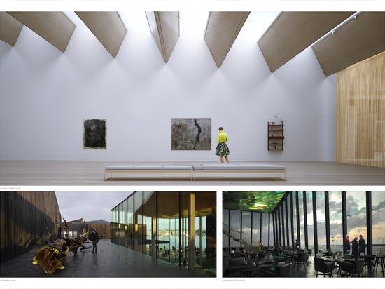 La luce naturale sommergerà le tutte e dieci le costruzioni attraverso i grandi lucernari e con le aperture lustrate del pavimento--soffitto che avvolgono intorno al primo piano di ogni struttura. ...