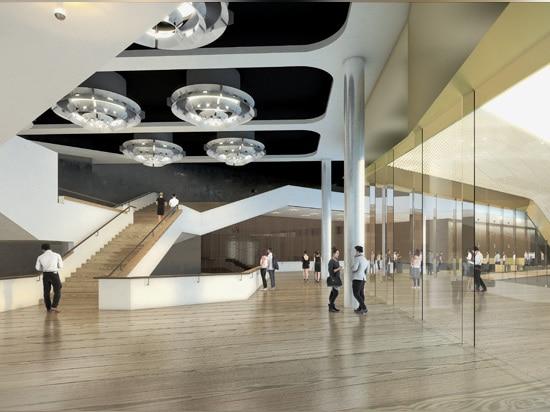 lo schema intende solidificare il rapporto visivo fra la città ed il teatro