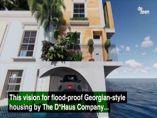 Il D*Haus Company progetta l'omaggio inondazione-resistente all'architettura georgiana