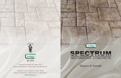 SPECTRUM PRODUCT SERIES Decorative Concrete Catalog