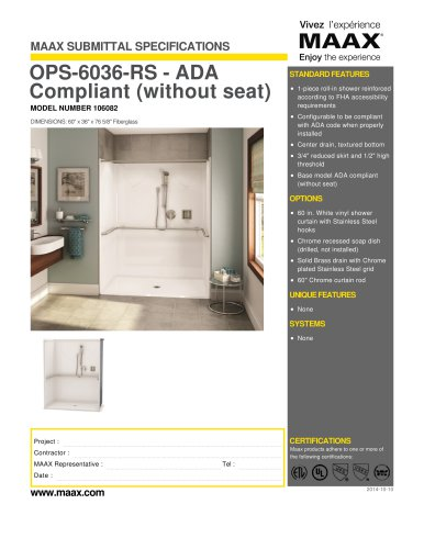 OPS-6036-RS - ADA Compliant (without seat)