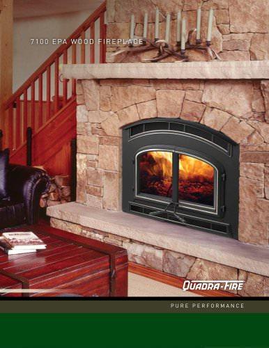 7100 Wood fireplace