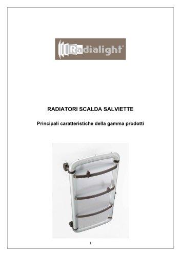 Informazione tecniche scaldasalviette Radialight