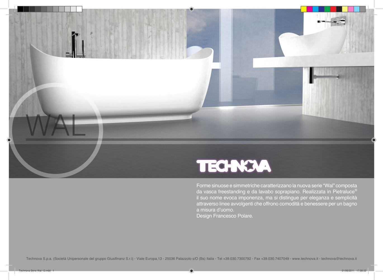 wal vasca da bagno e lavabi da appoggio in pietraluce® - technova ... - Luce Vasca Da Bagno