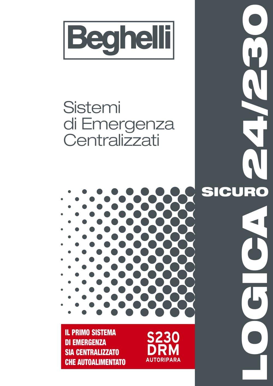 Catalogo Beghelli Lampade Di Emergenza.Catalogo Logica Sicuro Beghelli Catalogo Pdf Documentazione