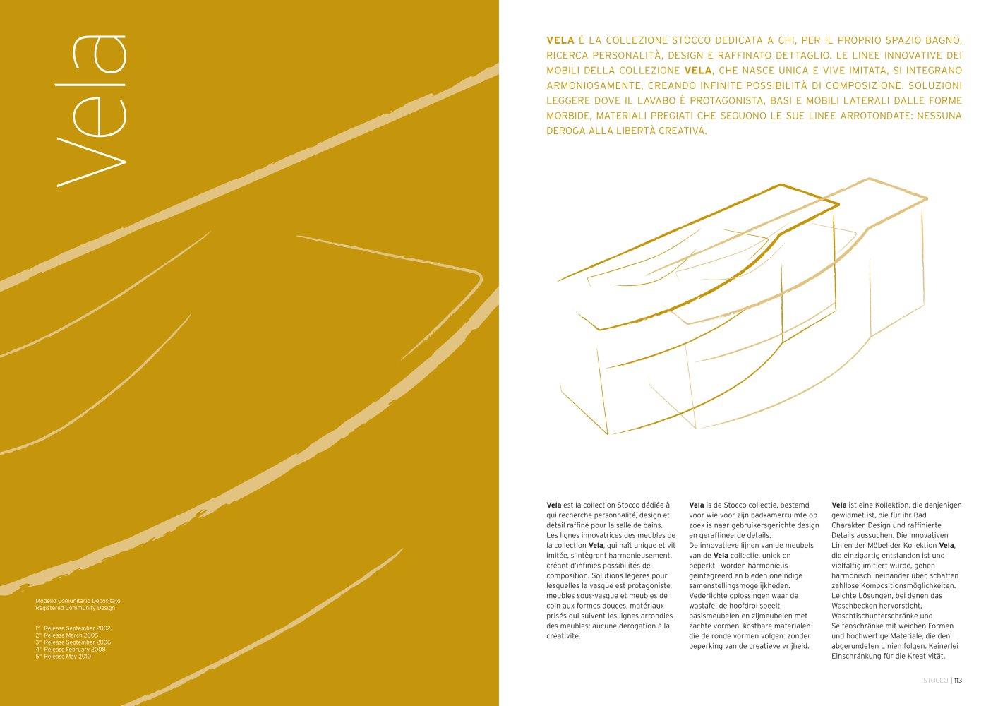 vela - f.lli stocco s.r.l. - catalogo pdf | documentazione | brochure - Stocco Arredo Bagno Outlet