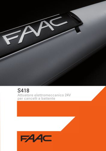 Operatore elettromeccanico S418 24V - Ante a battente
