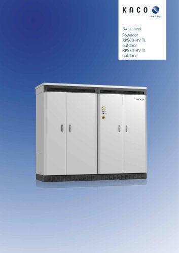 Powador XP500-HV TL outdoor XP550-HV TL outdoor