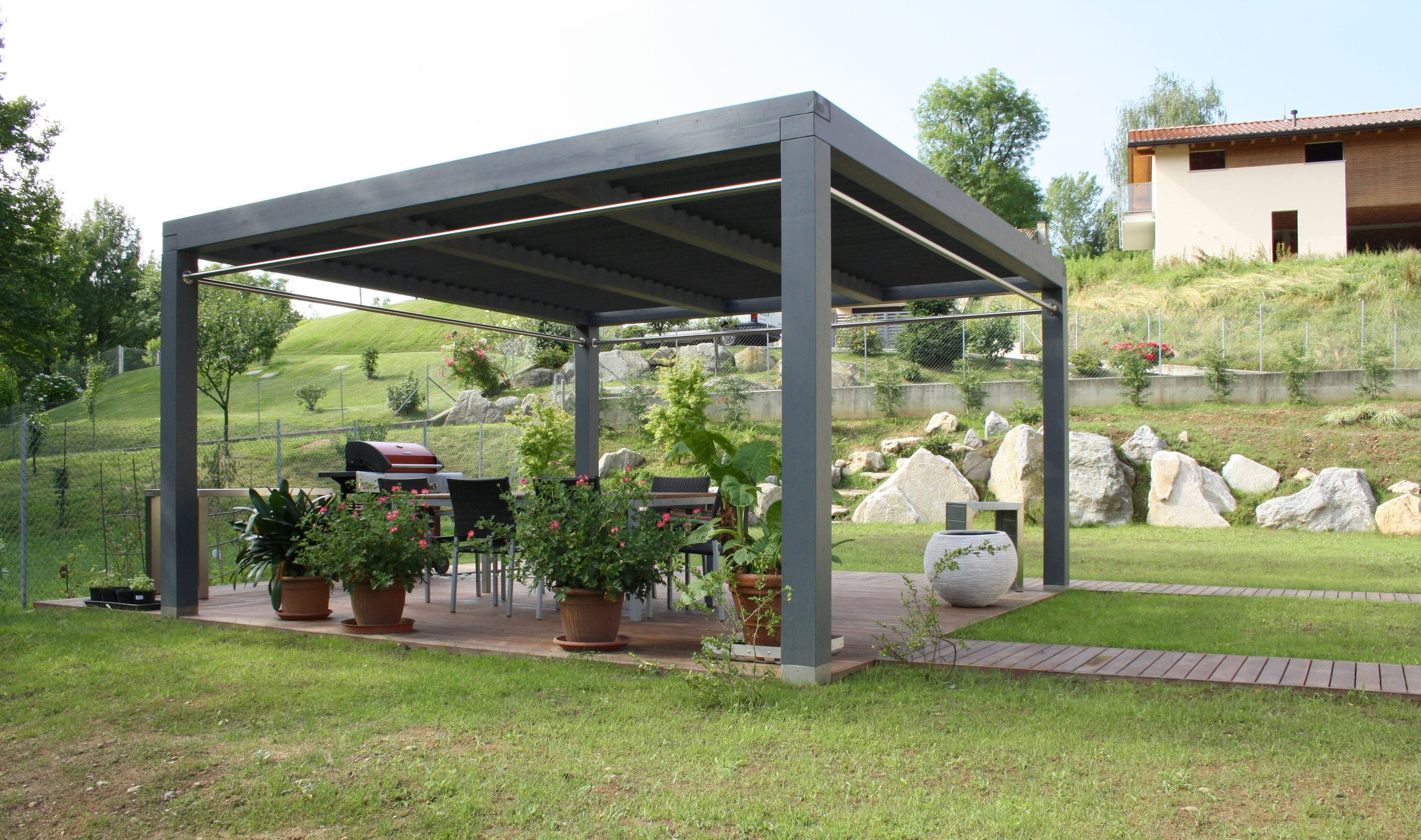 Gazebi Moderni In Legno.Gazebo In Legno Proverbio Outdoor Design