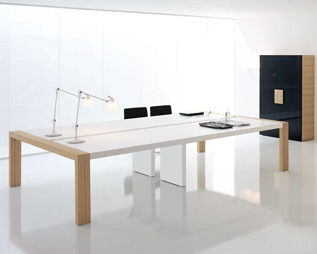 Tavolo da riunione moderno / in legno / rettangolare ...