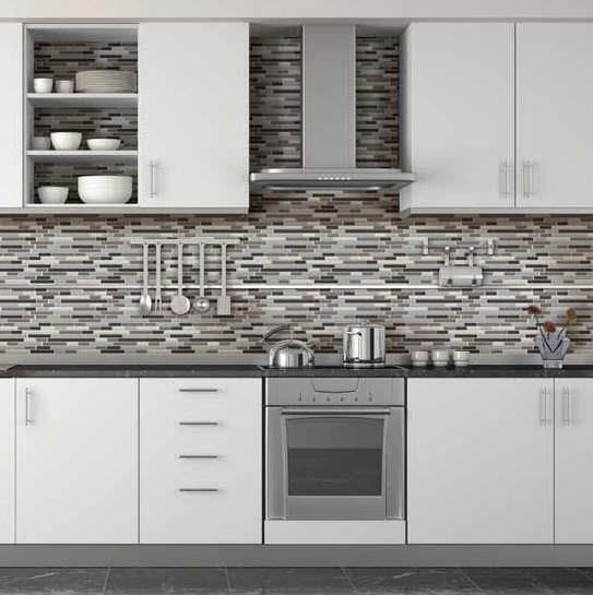 Mosaico da interno / da cucina / da pavimento / in vetro ...