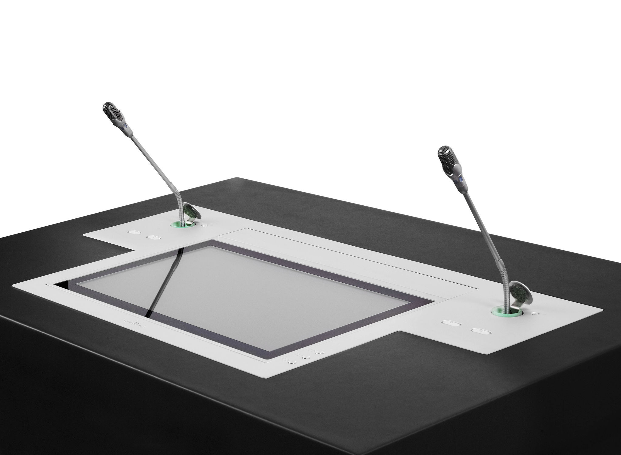 Scrivania Con Monitor A Scomparsa.Touch Screen Per Tavolo Da Conferenza Da Parete Ribaltabile