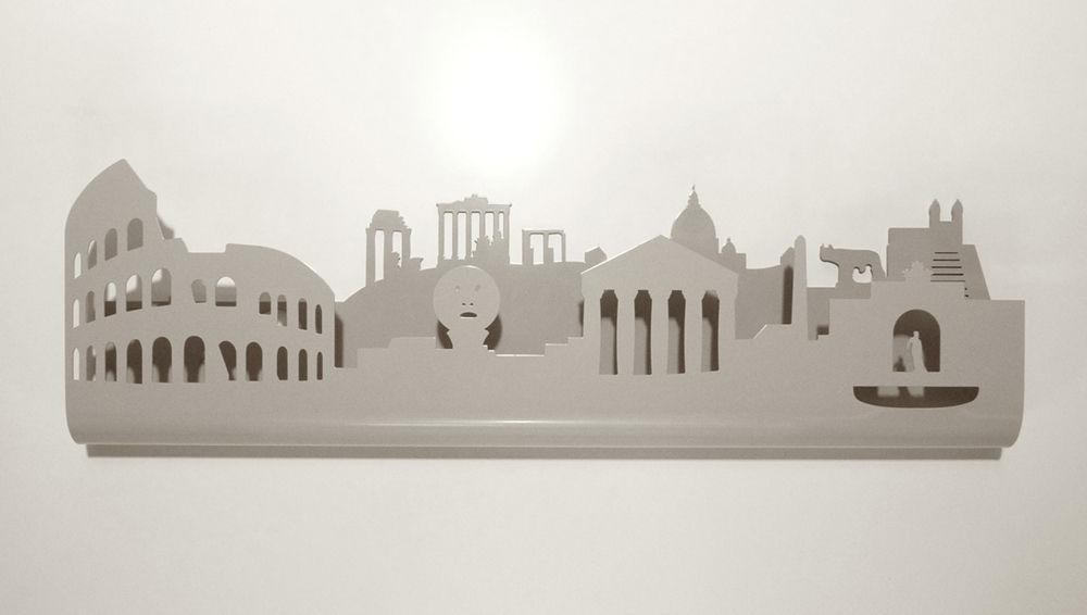 Appendiabiti Roma.Appendiabiti A Muro Moderno In Metallo Skyline Roma Utoopic