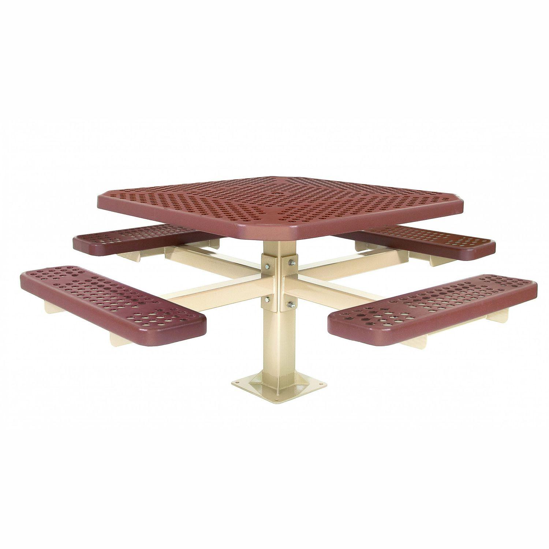 Tavoli Di Plastica Quadrati.Tavolo Da Picnic Moderno Single Pedestal Tuffclad Series