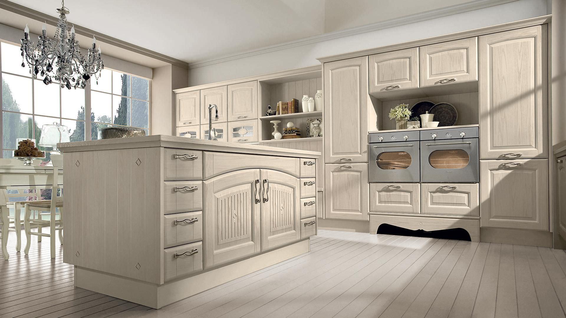 Cucina classica / in legno massiccio / con isola / con impugnature VERONICA  CUCINE LUBE