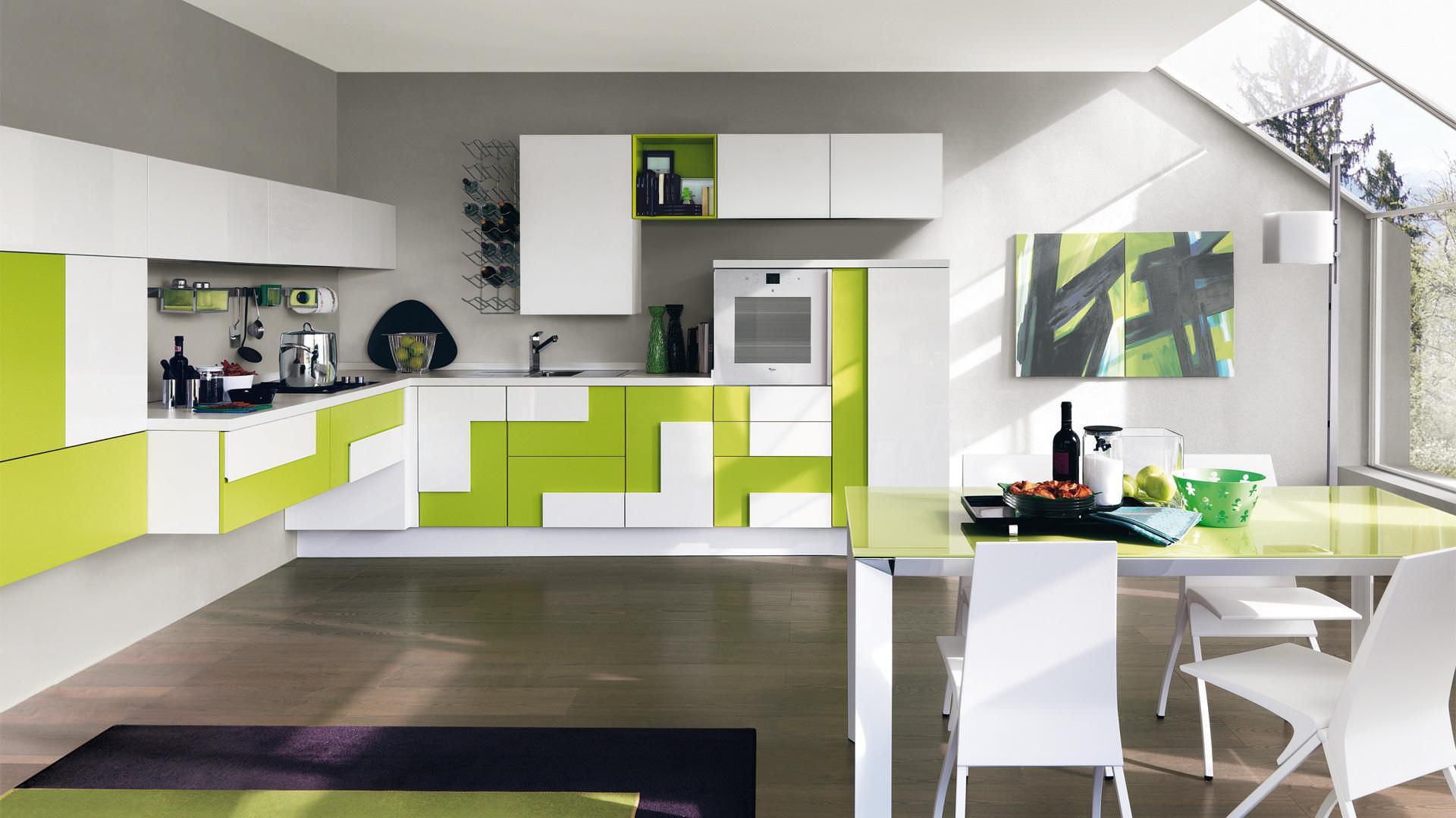 Cucina moderna / in legno / laccata / senza maniglie - CREATIVA ...