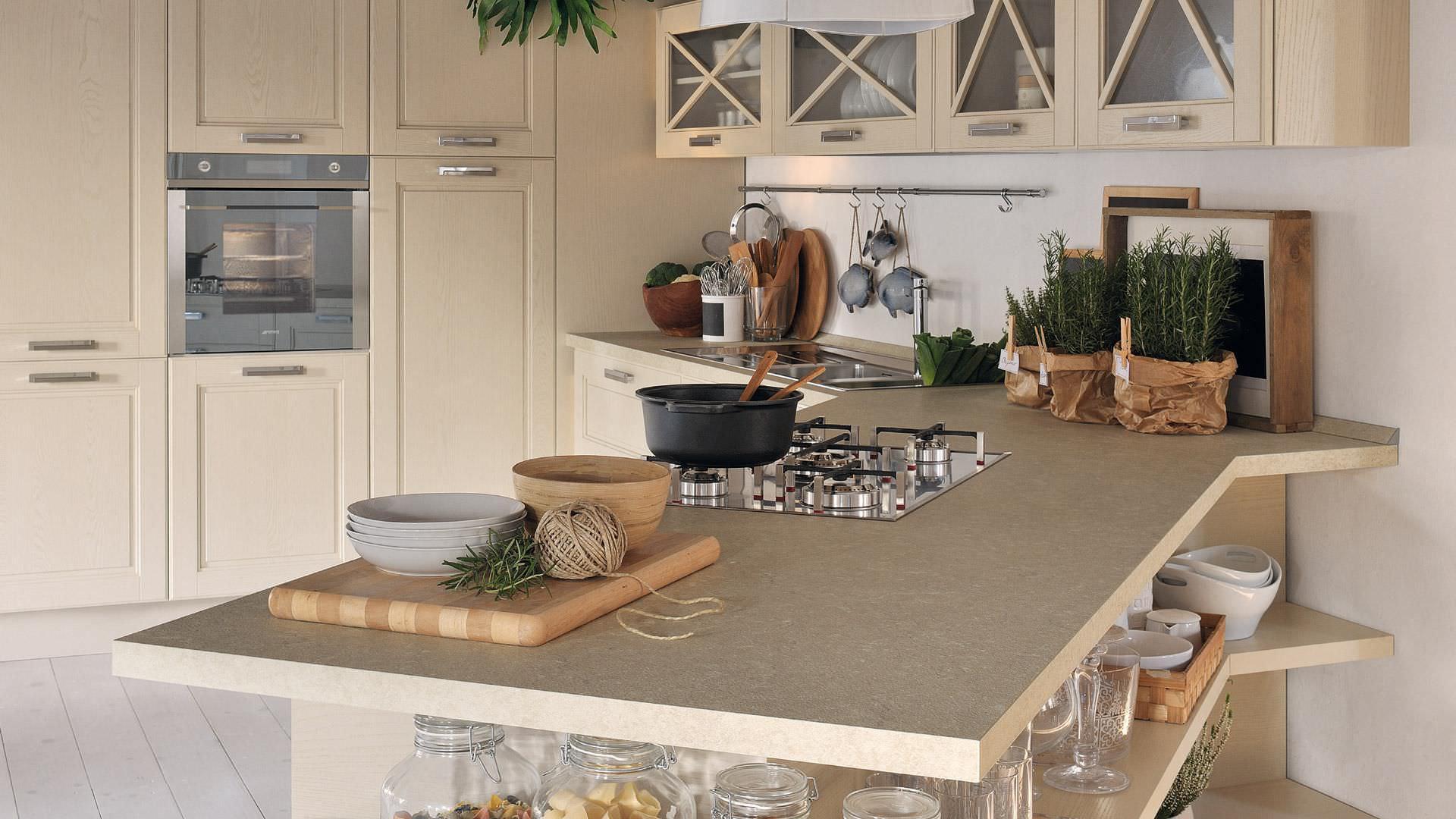 Cucina classica / in legno massiccio / con impugnature - AGNESE ...