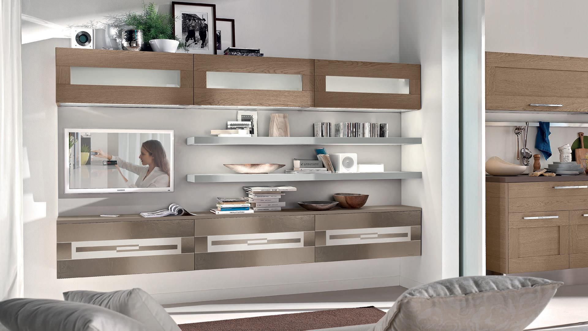 Cucina Agnese Lube Opinioni parete attrezzata per soggiorno moderna - gallery - cucine